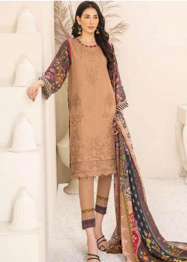 Banafsheh Embroidered Linen Unstitched 3 Piece Suit BF20W 09 - Winter Collection