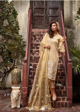 Banaras By Noor Textiles Embroidered Organza Unstitched 3 Piece Suit B01 - Spring / Summer Collection