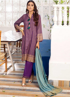 Banarsi by ZS Textiles Printed Banarsi Unstitched 3 Piece Suit BN20ZS 6 - Summer Collection