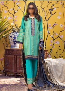 Banarsi by ZS Textiles Printed Banarsi Unstitched 3 Piece Suit ZS20-B5 ZS-02 - Spring / Summer Collection