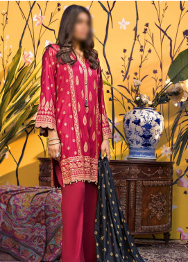 Banarsi by ZS Textiles Printed Banarsi Unstitched 3 Piece Suit ZS20-B5 ZS-04 - Spring / Summer Collection