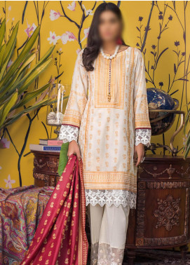 Banarsi by ZS Textiles Printed Banarsi Unstitched 3 Piece Suit ZS20-B5 ZS-08 - Spring / Summer Collection