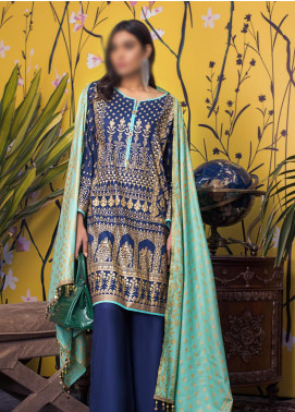 Banarsi by ZS Textiles Printed Banarsi Unstitched 3 Piece Suit ZS20-B5 ZS-10 - Spring / Summer Collection