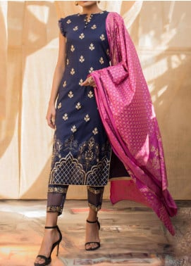 Banarsi by ZS Textiles Printed Banarsi Unstitched 3 Piece Suit ZS20-B5 ZS-09 - Spring / Summer Collection