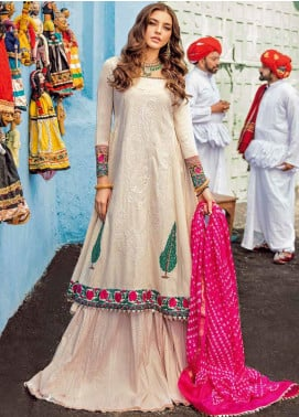 Bandhani by Al Zohaib Embroidered Lawn Unstitched 3 Piece Suit AZ20B 2 - Spring / Summer Collection