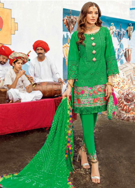 Bandhani by Al Zohaib Embroidered Lawn Unstitched 3 Piece Suit AZ20B 4 - Spring / Summer Collection
