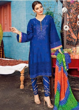 Bandhani by Al Zohaib Embroidered Lawn Unstitched 3 Piece Suit AZ20B 6 - Spring / Summer Collection