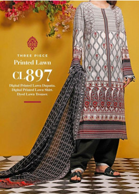 Baraan by Gul Ahmed Printed Lawn Unstitched 3 Piece Suit BGA20MS CL-897 - Summer Collection