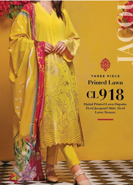 Baraan by Gul Ahmed Printed Jacquard Unstitched 3 Piece Suit BGA20MS CL-918 - Summer Collection