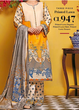 Baraan by Gul Ahmed Printed Lawn Unstitched 3 Piece Suit BGA20MS CL-947 - Summer Collection