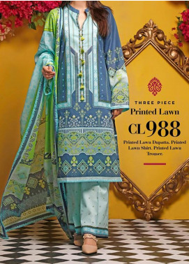 Baraan by Gul Ahmed Printed Lawn Unstitched 3 Piece Suit BGA20MS CL-988 - Summer Collection