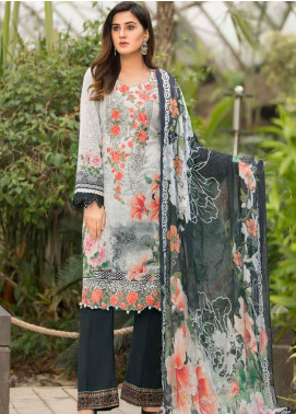 Barkha by Shamira Embroidered Lawn Unstitched 3 Piece Suit SHR20B 10 - Spring / Summer Collection