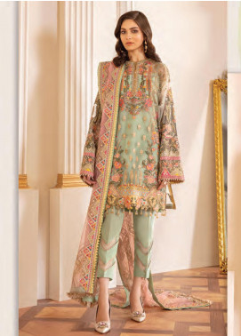 Baroque Embroidered Net Unstitched 3 Piece Suit BQ20C 1 - Festive Collection