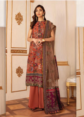 Baroque Embroidered Net Unstitched 3 Piece Suit BQ20C 3 - Festive Collection