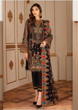 Baroque Embroidered Net Unstitched 3 Piece Suit BQ20C 4 - Festive Collection