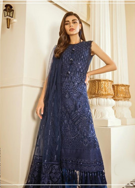 Baroque Embroidered Chiffon Unstitched 3 Piece Suit BQ19-C6 02 DELPH - Luxury Collection