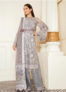 Baroque Embroidered Chiffon Unstitched 3 Piece Suit BQ19-C6 07 PEARL RIVER - Luxury Collection