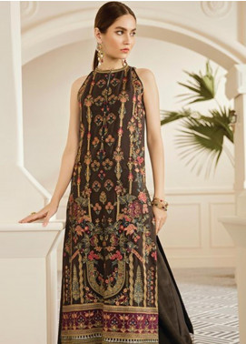 Baroque Embroidered Chiffon Unstitched 3 Piece Suit BQ19-C6 10 PECAN - Luxury Collection
