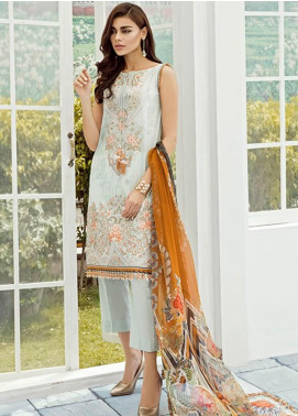 Baroque Embroidered Lawn Unstitched 3 Piece Suit FC19-L2 03 BEGONIA - Mid Summer Collection