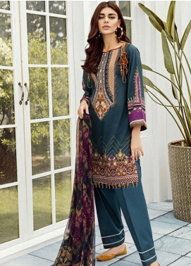 Baroque Embroidered Lawn Unstitched 3 Piece Suit FC19-L2 07 LILY - Mid Summer Collection