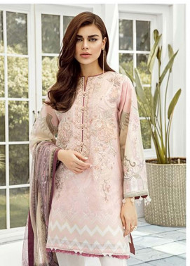 Baroque Embroidered Lawn Unstitched 3 Piece Suit FC19-L2 08 ORCHID - Mid Summer Collection