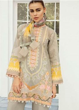 Baroque Embroidered Lawn Unstitched 3 Piece Suit FC19-L2 09 PROTEA - Mid Summer Collection