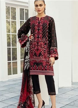 Baroque Embroidered Lawn Unstitched 3 Piece Suit FC19-L2 10 CARNATION - Mid Summer Collection