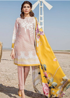 Baroque Embroidered Khaddar Unstitched 3 Piece Suit BQ18K 1 Pink Sublime - Luxury Collection