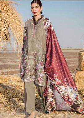 Baroque Embroidered Khaddar Unstitched 3 Piece Suit BQ18K 4 Ethnic Elation - Luxury Collection