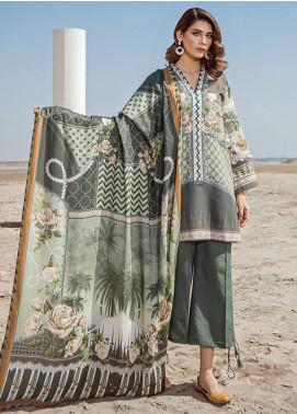 Baroque Embroidered Khaddar Unstitched 3 Piece Suit BQ18K 6 Floral Praise - Luxury Collection