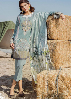 Baroque Embroidered Khaddar Unstitched 3 Piece Suit BQ18K 8 Subtle Luxe - Luxury Collection