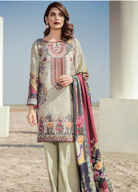 Baroque Embroidered Khaddar Unstitched 3 Piece Suit BQ18K 9 Eastern Impression - Luxury Collection