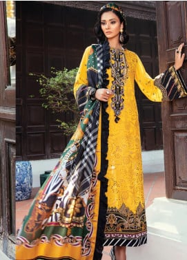 Baroque Embroidered Lawn Unstitched 3 Piece Suit BQ20E 01 SWEET FANTASY - Eid Collection
