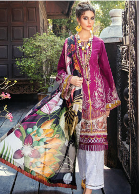 Baroque Embroidered Lawn Unstitched 3 Piece Suit BQ20E 02 VELVETERIA - Eid Collection