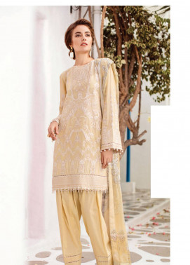 Baroque Embroidered Swiss Voile Unstitched 3 Piece Suit BQ19S 07 ICEBERG - Spring / Summer Collection