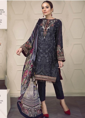 Baroque Embroidered Lawn Unstitched 3 Piece Suit BQ19-S2 01 AVA - Mid Summer Collection
