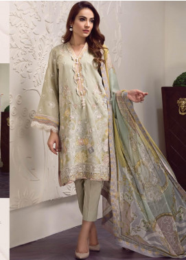 Baroque Embroidered Lawn Unstitched 3 Piece Suit BQ19-S2 02 KYRA - Mid Summer Collection