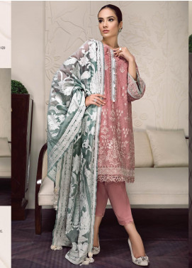 Baroque Embroidered Lawn Unstitched 3 Piece Suit BQ19-S2 04 ZOEY - Mid Summer Collection