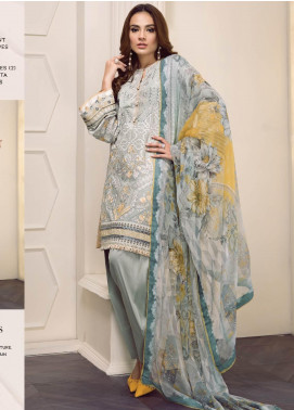 Baroque Embroidered Lawn Unstitched 3 Piece Suit BQ19-S2 07 EVERLY - Mid Summer Collection