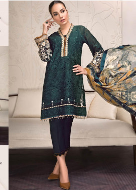 Baroque Embroidered Lawn Unstitched 3 Piece Suit BQ19-S2 08 ARIANNA - Mid Summer Collection