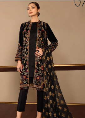 Baroque Embroidered Velvet Unstitched 3 Piece Suit BQ19V 07 SWEET MUSIC - Winter Collection