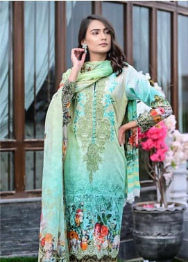 Bashir Ahmed Embroidered Lawn Unstitched 3 Piece Suit BA20L 04 - Summer Collection