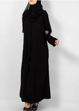 Hijab ul Hareem  Abayas Best Simple Style Black Abaya 0121-P