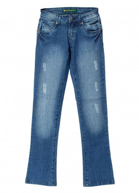 Bien Habille Jeans Casual Fit Blue Damage