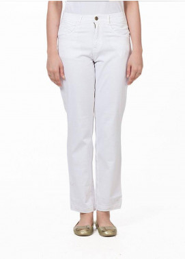 Bien Habille Jeans Casual Fit White