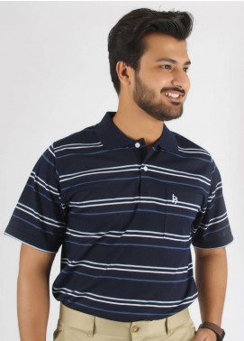 Bien Habille Cotton Polo Men T-Shirt -  Blue & White