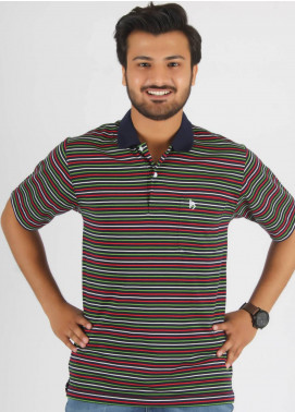 Bien Habille Cotton Polo Men T-Shirt -  Blue White & Green