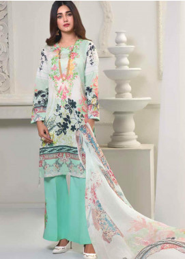 Bin Ahmad Embroidered Lawn Unstitched 3 Piece Suit BA19F 01 - Festive Collection