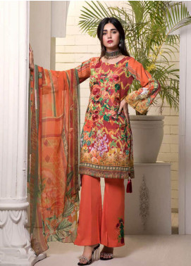 Bin Ahmad Embroidered Lawn Unstitched 3 Piece Suit BA19F 10 - Festive Collection