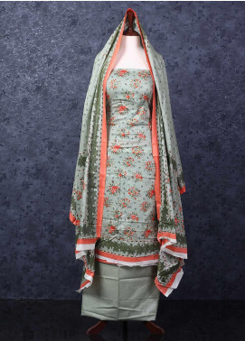 Bin Saeed Printed Lawn Unstitched 3 Piece Suit AA - Spring / Summer Collection